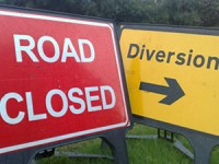 Road closures in Kent Road and Wrington Lane