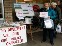 Congresbury residents demonstrate against Cobthorn Way development plans