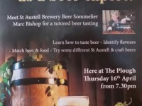 Craft Beer Tasting at The Plough – Thu 16 April