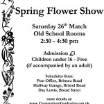 Spring Flower Show 2016 – Sat 26th March