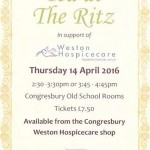 Tea at the Ritz – Thu 14th April 2016