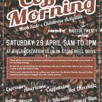 Coffee Morning – Sat 29th April 2017