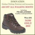 Country Innovation – £20 OFF ALL WALKING BOOTS!