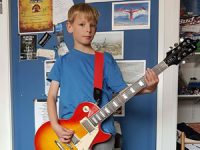 8 year old Ben Payne busking for Make-a-Wish Foundation