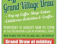 Coffee Morning & Grand Village Draw – Thu 31st Aug, 9am-12pm