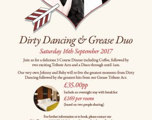 Dirty Dancing & Greece Duo – Sat 16th Sept