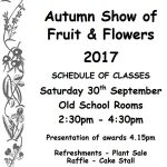 Autumn Show of Fruit & Flowers 2017 – Sat 30th Sept