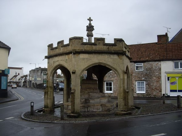 The Market Cross Cheddar with protective barrier