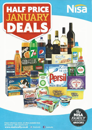 Nisa Local Offers 4 Jan to 24 Jan 2016