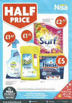 Nisa Local Offers - 15 Feb to 6 Mar 2016