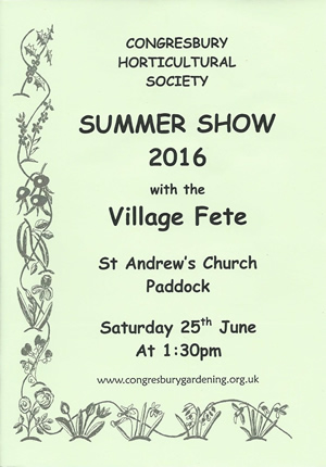 Congresbury Summer Show 2016 with Village Fete
