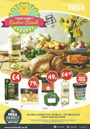 Nisa Local Offers - 7 Mar to 27 Mar 2016